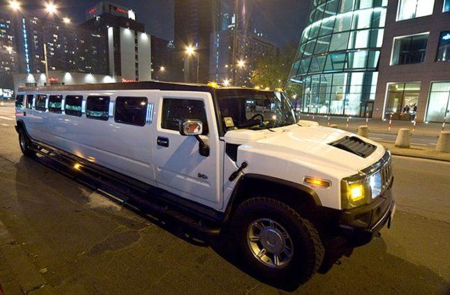 White Hummer Limousine